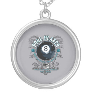 Collier Joueur 8-Ball en filigrane de piscine