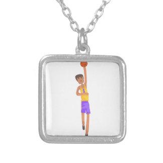 Collier Joueur de basket avec l'autocollant d'action de