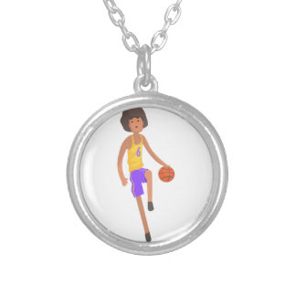Collier Joueur de basket fonctionnant avec l'autocollant