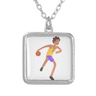 Collier Joueur de basket passant l'autocollant d'action de