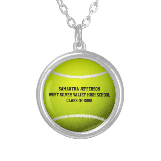 Collier La balle de tennis personnalisée folâtre le