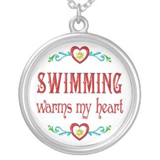 Collier La natation chauffe mon coeur