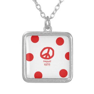 Collier Langue de Nepali et conception de symbole de paix