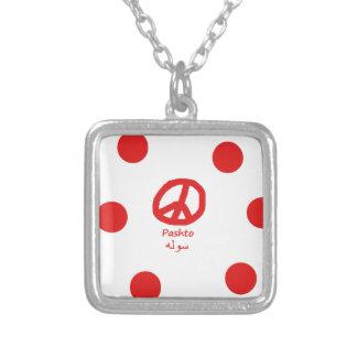 Collier Langue de Pashto et conception de symbole de paix