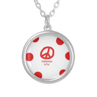 Collier Langue et conception hébreues de symbole de paix