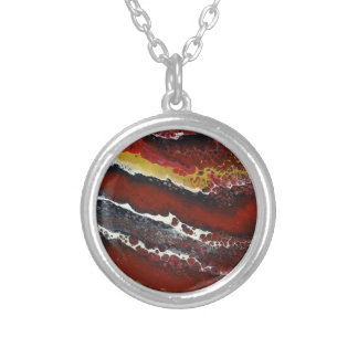 Collier Lave rouge