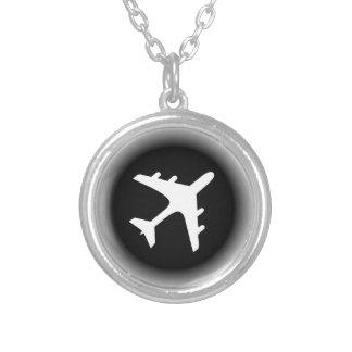 Collier Le blanc noir se fanent conception d'avion