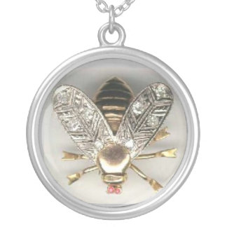 Collier Le cru gaffent des bijoux d'abeille