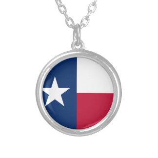 Collier Le drapeau solitaire du Texas de drapeau d'étoile