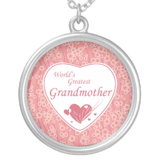 Collier Le plus grand rose de la grand-mère du monde
