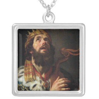 "Collier Le ""Roi David Playing le Harp"