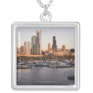 Collier Les Etats-Unis, port de l'Illinois, de Chicago et