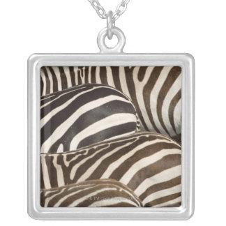 Collier Les rayures des zèbres (quagga d'Equus), masais