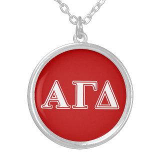 Collier Lettres rouges et blanches d'alpha delta gamma