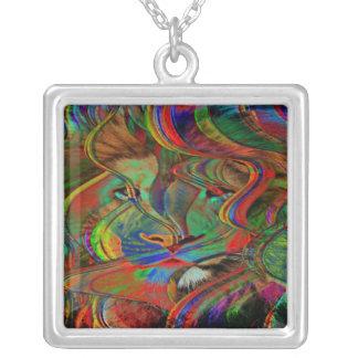 Collier Lion abstrait