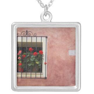 Collier L'Italie, Asciano, boîtes de fenêtre avec le