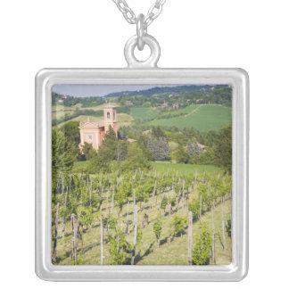 Collier L'Italie, Bologna, vue par le vignoble à Chiesa