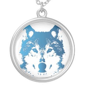 Collier Loup de bleu glacier d'illustration