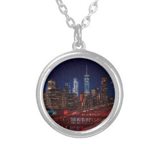 Collier Lumières de nuit de New York City de pont de