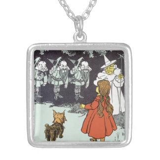 Collier Magicien d'Oz vintage Dorothy Toto Glinda