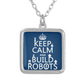 Collier Maintenez les robots calmes et de construction