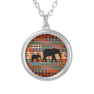 Collier Maman de motif de motif africain et éléphant