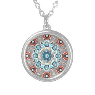 Collier Mandala abstrait de pastels