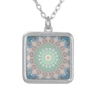 Collier Mandala de pastels de ton de la terre