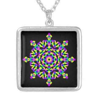 Collier Mandala de Vibe de hippie psychédélique