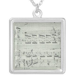 Collier Manuscrit de musique de polonaise Chopin pour le