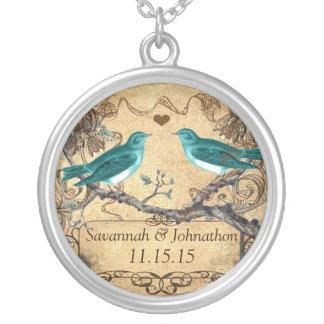 Collier Mariage rustique romantique turquoise en bon état