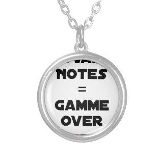 Collier MAUVAISES NOTES = GAMME OVER - Jeux de mots