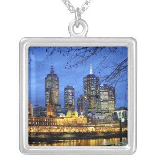 Collier Melbourne, Australie. Une vue de nuit de