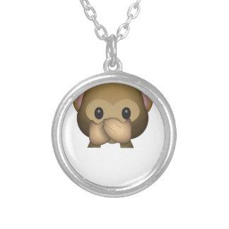 Collier Mignon ne parlez aucun singe mauvais Emoji