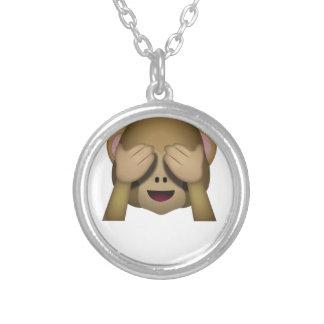 Collier Mignon ne voir l'aucun singe mauvais Emoji