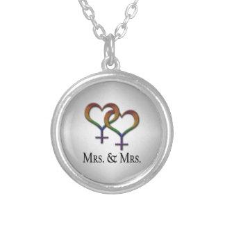 Collier Mme et Mme Lesbian Pride