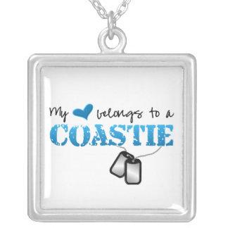 Collier Mon coeur appartient à mon Coastie
