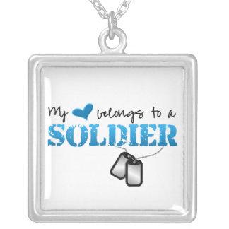 Collier Mon coeur appartient à un soldat