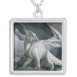 Collier Monstres de DnD le dragon blanc