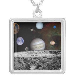 Collier Montage des planètes et des lunes de Jupiter