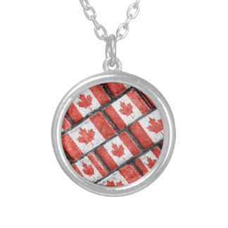 Collier Motif canadien de motif de drapeau