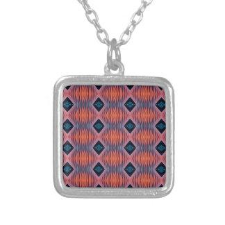 Collier Motif tribal moderne bleu de pêche texturisée