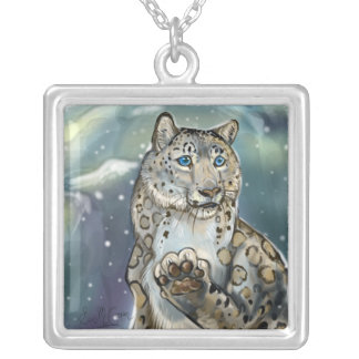 Collier Neige Leopard~necklace
