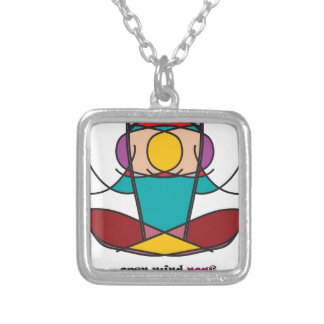Collier noa d'illustration de yoga de méditation