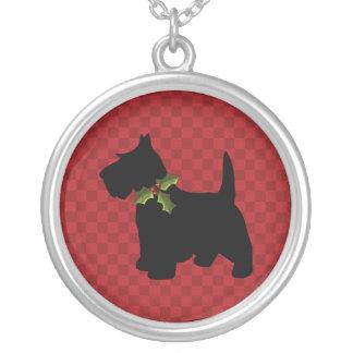 Collier Noël de chien de Scottie de Terrier d'écossais