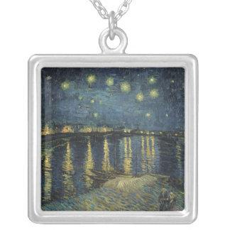 Collier Nuit étoilée de Vincent van Gogh | au-dessus du