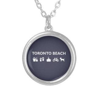 Collier Obscurité monotone d'icônes de plage de Toronto