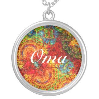Collier Oma abstrait coloré