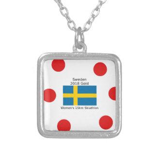 Collier Or 2018 de la Suède - 15km Skiathlon des femmes