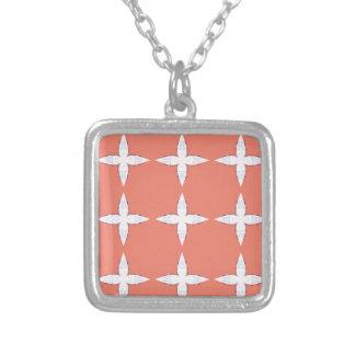 Collier Orange blanche de mandalas de luxe